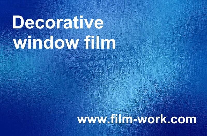 窓ガラスの意匠性が高い装飾フィルム