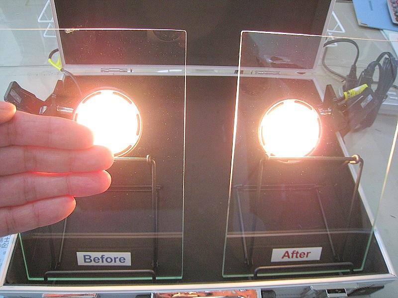 遮熱ガラスフィルム体感キット(3M NANO80S施工済)