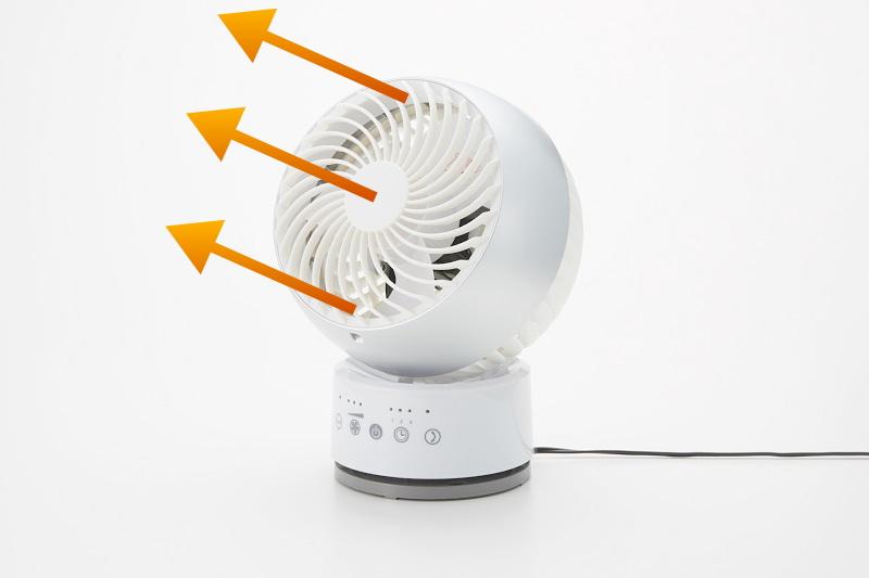 サーキュレーターでエアコン暖房を暖かく