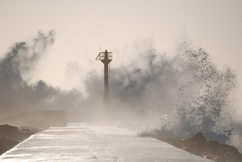 台風による高波