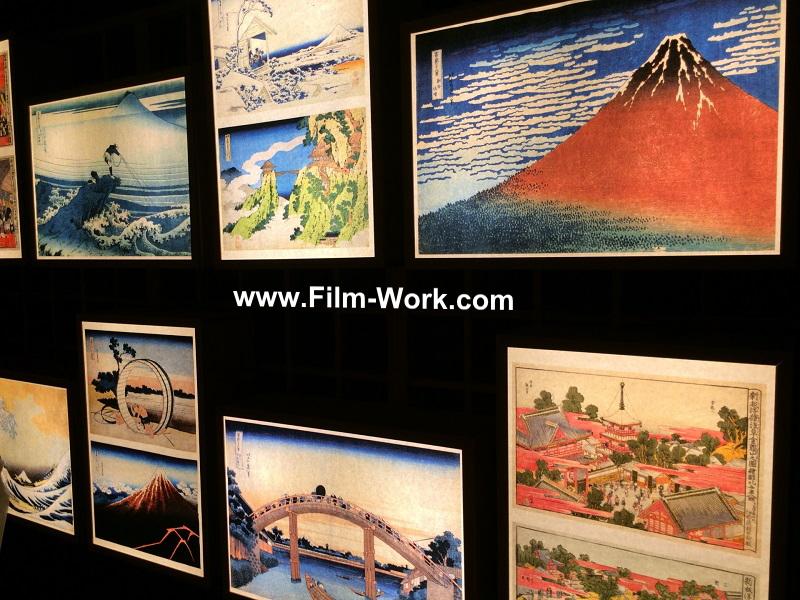 葛飾北斎の風景画、絵画