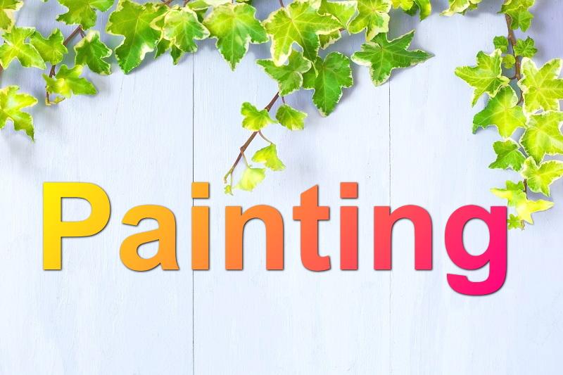 インテリア家具の塗装