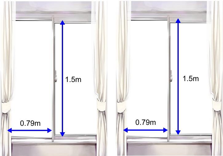 腰高窓にガラスフィルム施工