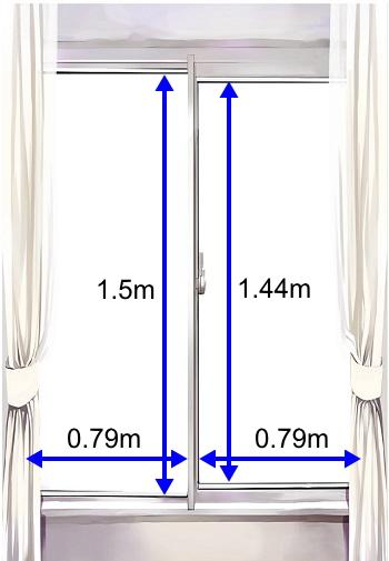 腰高窓にガラスフィルム施工した場合の施工価格
