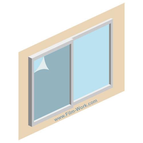 建築用、窓ガラスフィルムの劣化、剥がし作業