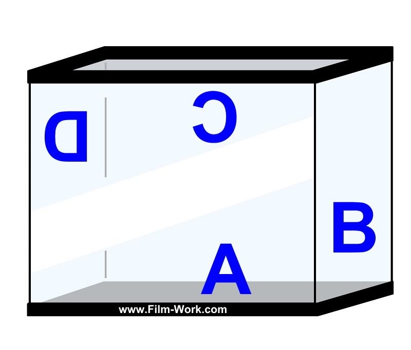 ガラス水槽やアクリル水槽、アクアリウムにガラスフィルム施工