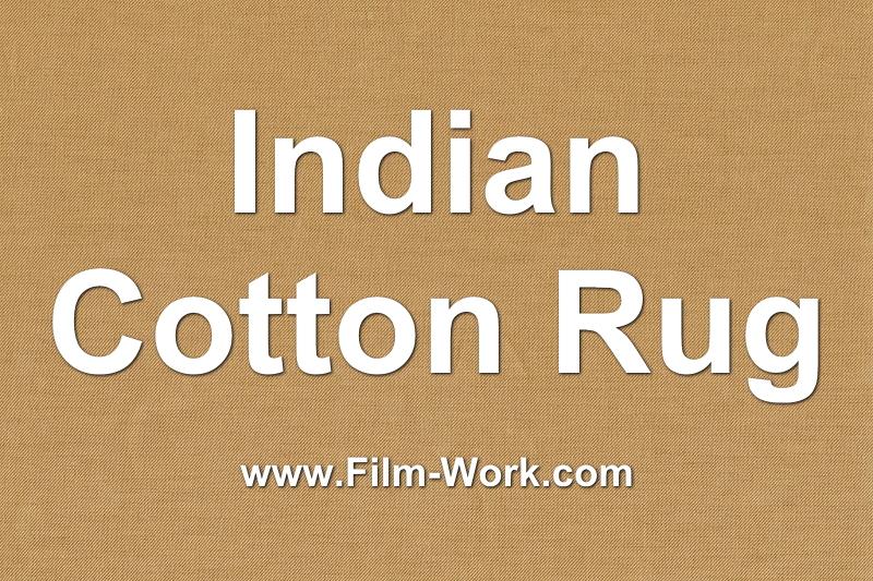 インド綿ラグ
