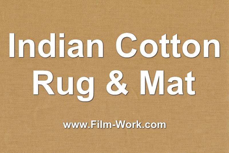 インド綿ラグ、マット