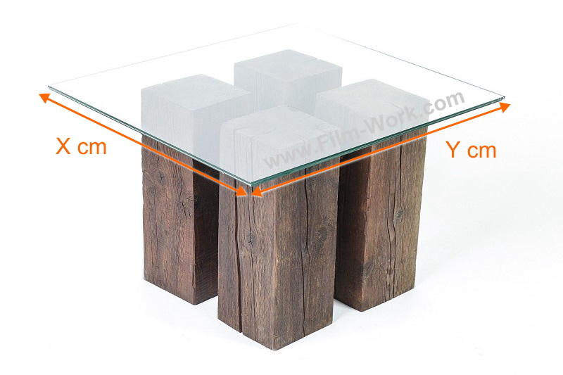 ガラステーブル+ガラスフィルムでガラス飛散防止 by フィルムワーク