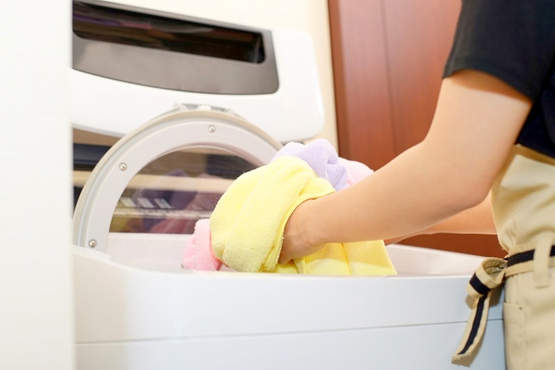 洗濯機で洗濯