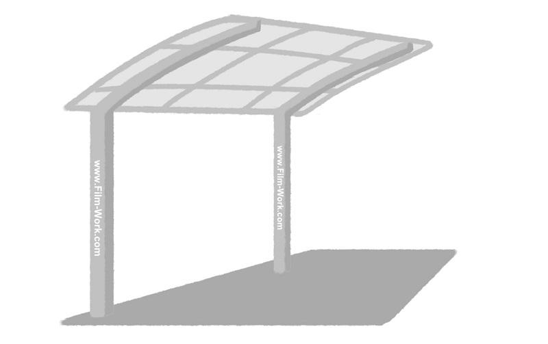 カーポート(2本柱片持ちタイプ)