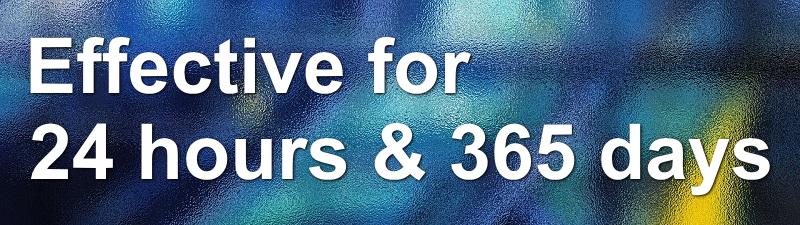 防虫フィルムは24時間365日、効果を発揮