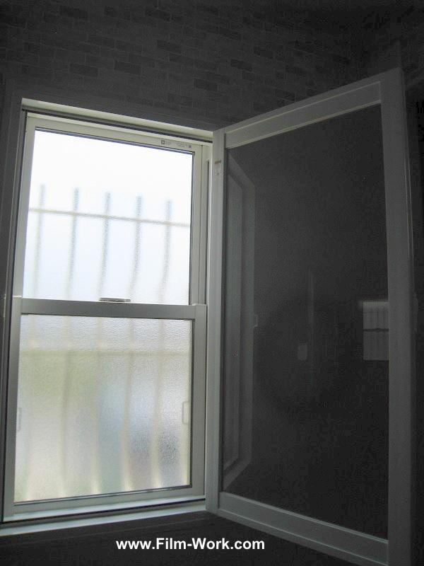 アルミ樹脂複合サッシ+Low-Eペアガラス(断熱タイプ)に遮熱フィルム、グラフィルNS70/クリア遮熱70を施工