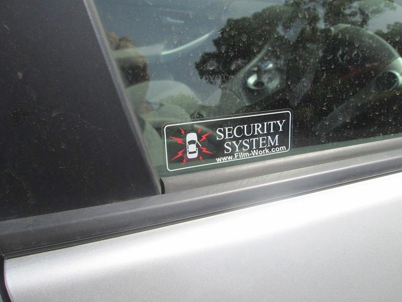 カーセキュリティシステムーステッカー